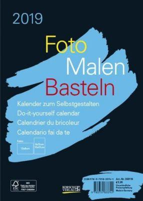 Foto-Malen-Basteln Bastelkalender A5 schwarz 2019
