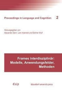 Frames interdisziplinär: Modelle, Anwendungsfelder, Methoden