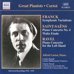 Franck Ravel Saint-Saens, Alfred Cortot