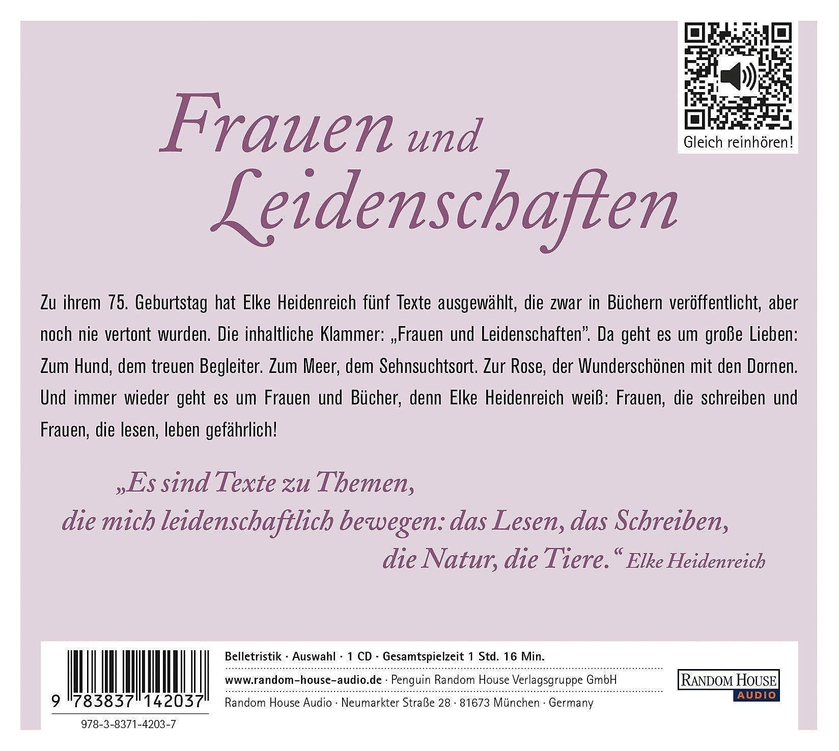 Frauen Und Leidenschaften 1 Audio Cd Hörbuch Günstig Bestellen