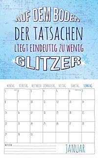 Freche Sprüche Kalender 2018 + 2 Blechschilder - Produktdetailbild 1