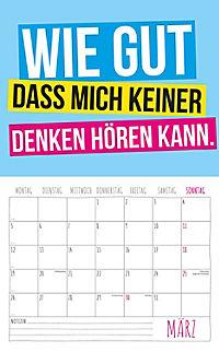 Freche Sprüche Kalender 2018 + 2 Blechschilder - Produktdetailbild 3