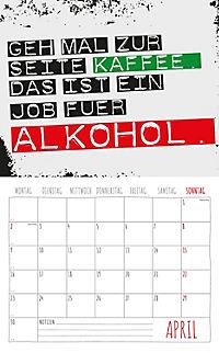 Freche Sprüche Kalender 2018 + 2 Blechschilder - Produktdetailbild 4