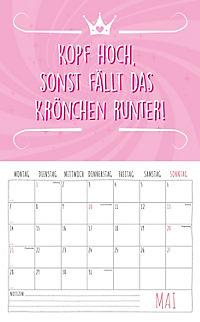 Freche Sprüche Kalender 2018 + 2 Blechschilder - Produktdetailbild 5