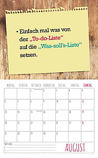 Freche Sprüche Kalender 2018 + 2 Blechschilder - Produktdetailbild 8