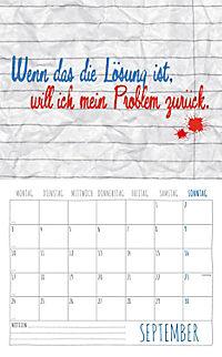 Freche Sprüche Kalender 2018 + 2 Blechschilder - Produktdetailbild 9