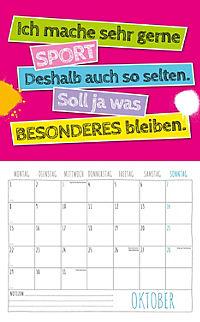 Freche Sprüche Kalender 2018 + 2 Blechschilder - Produktdetailbild 10