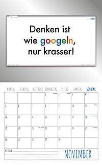 Freche Sprüche Kalender 2018 + 2 Blechschilder - Produktdetailbild 11