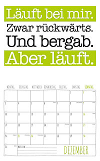 Freche Sprüche Kalender 2018 + 2 Blechschilder - Produktdetailbild 12