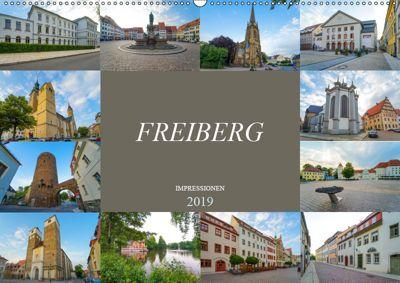 Freiberg Impressionen (Wandkalender 2019 DIN A2 quer), Dirk Meutzner