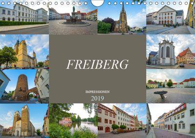 Freiberg Impressionen (Wandkalender 2019 DIN A4 quer), Dirk Meutzner