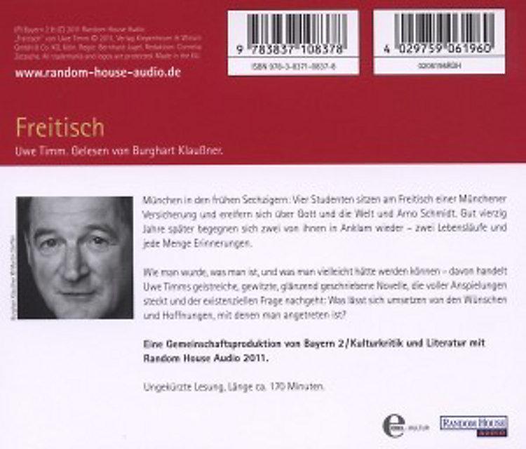 Freitisch 3 Audio Cds Hörbuch Von Uwe Timm Weltbildde