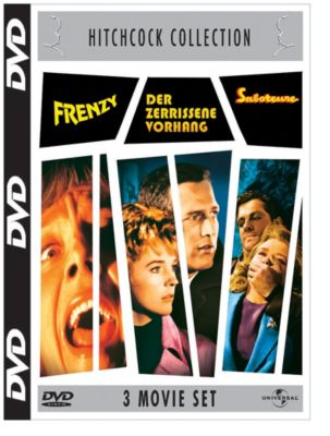 Frenzy + Der zerrissene Vorhang + Saboteure, Anthony Shaffer, Brian Moore, Willis Hall, Keith Waterhouse, Alfred Hitchcock, Peter Viertel, Joan Harrison, Dorothy Parker