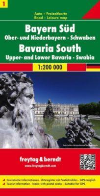Freytag & Berndt Auto + Freizeitkarte Bayern Süd - Ober- und Niederbayern - Schwaben; Baviera Sur, Centro. Beieren Zuide -  pdf epub