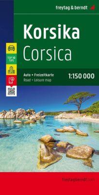 Freytag & Berndt Auto + Freizeitkarte Korsika, Top 10 Tips, Autokarte 1:150.000; Corsica -  pdf epub
