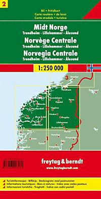 Freytag & Berndt Auto + Freizeitkarte Norwegen Mitte; Midt Norge; Midden Noorwegen; Norway Mid; Norvège Centrale; Norveg - Produktdetailbild 1