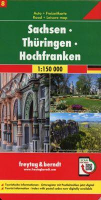 Freytag & Berndt Auto + Freizeitkarte Sachsen - Thüringen - Hochfranken, 1:150.000