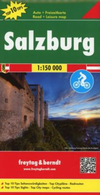 Freytag & Berndt Auto + Freizeitkarte Salzburg, Top 10 Tips 1:150.000