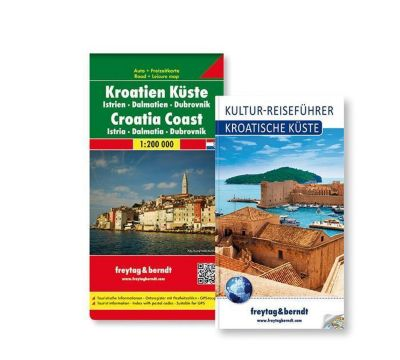 Freytag & Berndt Auto + Freizeitkarte u. Kultur-Reiseführer Kroatische Küste Set,1:200.000, 2 Tle.