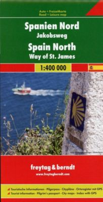Freytag & Berndt Auto- u. Freizeitkarte Spanien Nord - Jakobsweg