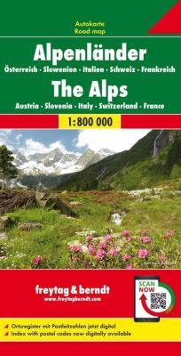 Freytag & Berndt Autokarte Alpenländer; Los Alpes; Alpen. The Alps. Les Alpes. Alpi