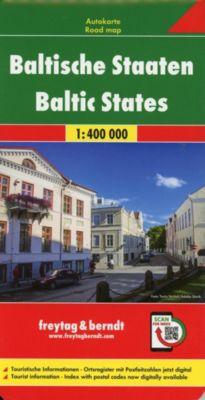 Freytag & Berndt Autokarte Baltische Staaten /Baltic States / États Baltes / Stati Baltiche / Estados Bálticas
