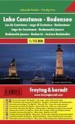 Freytag & Berndt Autokarte Bodensee; Lake Constance; Lac de Constance; Lagi di Constanza; Bodenmeer; Lago de Constanza
