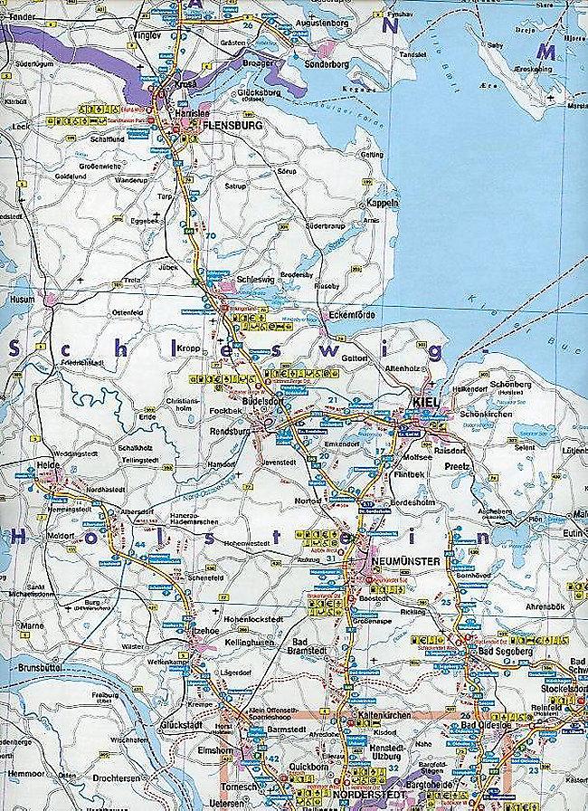 Freytag Berndt Autokarte Deutschland Autobahnkarte Alemania Mapa