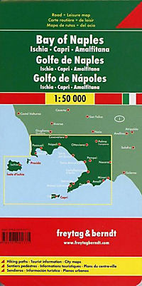 Freytag & Berndt Autokarte Golf von Neapel; Bay of Naples; Golfo di Napoli; Golfe de Naples; Golfo de Nápoles - Produktdetailbild 1