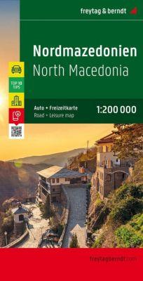 Freytag & Berndt Autokarte Mazedonien; Makedonija. Macedonie. Macedoine. Macedonia