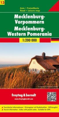 Freytag & Berndt Autokarte Mecklenburg-Vorpommern / Mecklenburg-Western Pomerania; Mecklembourg-Poméranie occidentale / -  pdf epub