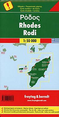 Freytag & Berndt Autokarte Rhodos; Rodos; Rhodes; Rodi - Produktdetailbild 1