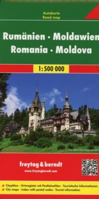 Freytag & Berndt Autokarte Rumänien, Moldawien; Romania, Moldova