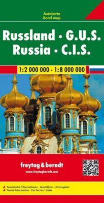 Freytag & Berndt Autokarte Russland, G.U.S. 1:2 Mill. - 1:8 Mill.; Russia, C.I.S.; Russie, C.E.I.; Russische federatie -  pdf epub