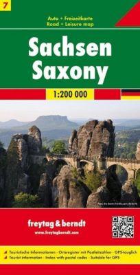 Freytag & Berndt Autokarte Sachsen; Saxony; Saxe; Sassonie -  pdf epub