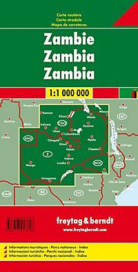Freytag & Berndt Autokarte Sambia; Zambia; Zambie - Produktdetailbild 1