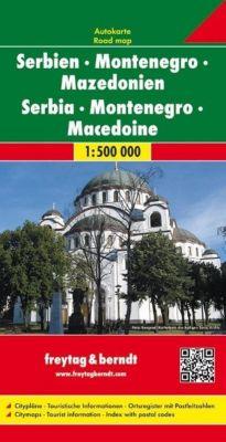 freytag berndt autokarte serbien montenegro. Black Bedroom Furniture Sets. Home Design Ideas