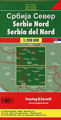 Freytag & Berndt Autokarte Serbien Nord; Noord Servie - Produktdetailbild 1