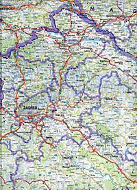 Freytag & Berndt Autokarte Slowenien, Kroatien, Bosnien-Herzegowina; Eslovenia, Croacia, Bosnia-Erzegovina; Slovenie, Cr - Produktdetailbild 2
