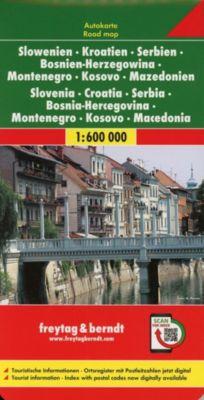 Freytag & Berndt Autokarte Slowenien, Kroatien, Serbien, Bosnien-Herzegowina, Montenegro, Mazedonien; Eslovenia, Croacia -  pdf epub