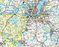 Freytag & Berndt Autokarte Zwischen Nordsee und Ostsee; Entre el Mar del Norte y del Mar Báltico; Tussen noordzee en ost - Produktdetailbild 1