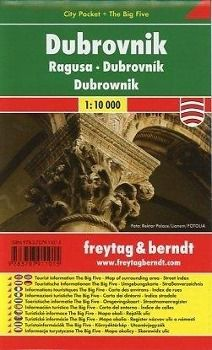 Freytag & Berndt Stadtplan Dubrovnik; Ragusa; Dubrownik