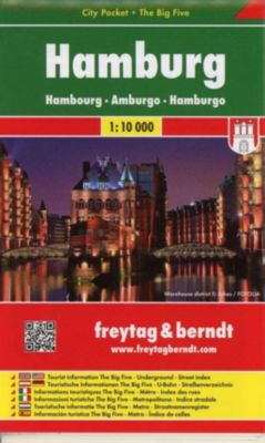 Freytag & Berndt Stadtplan Hamburg City Pocket, Stadtplan 1:10.000; Hambourg; Amburgo; Hamburgo; Hamburk
