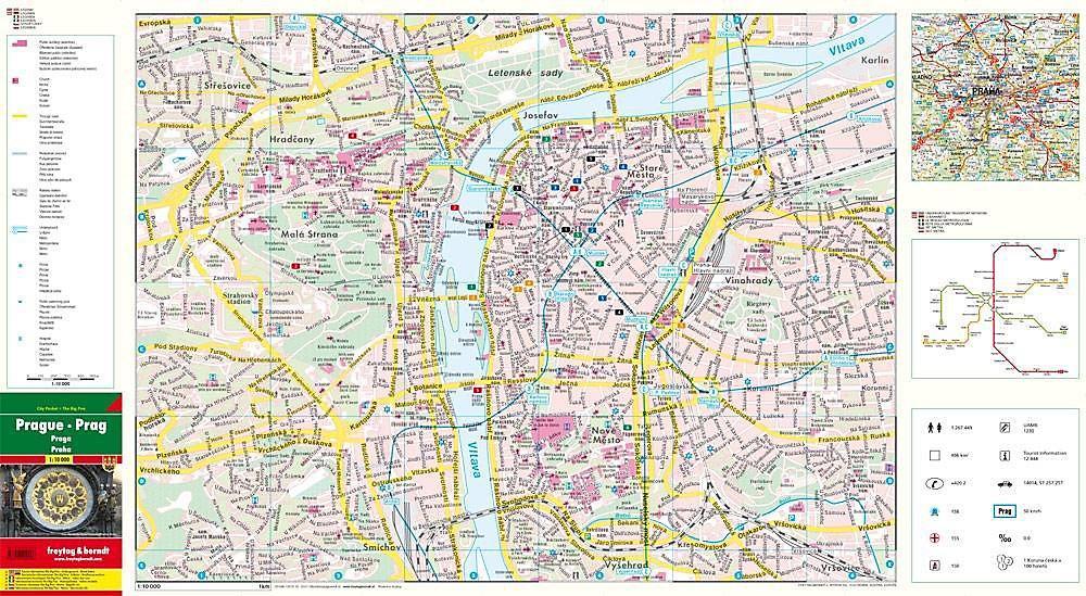Prag Karte Offentliche Verkehrsmittel.Freytag Berndt Stadtplan Prag Prague Praga Praha Jetzt Kaufen