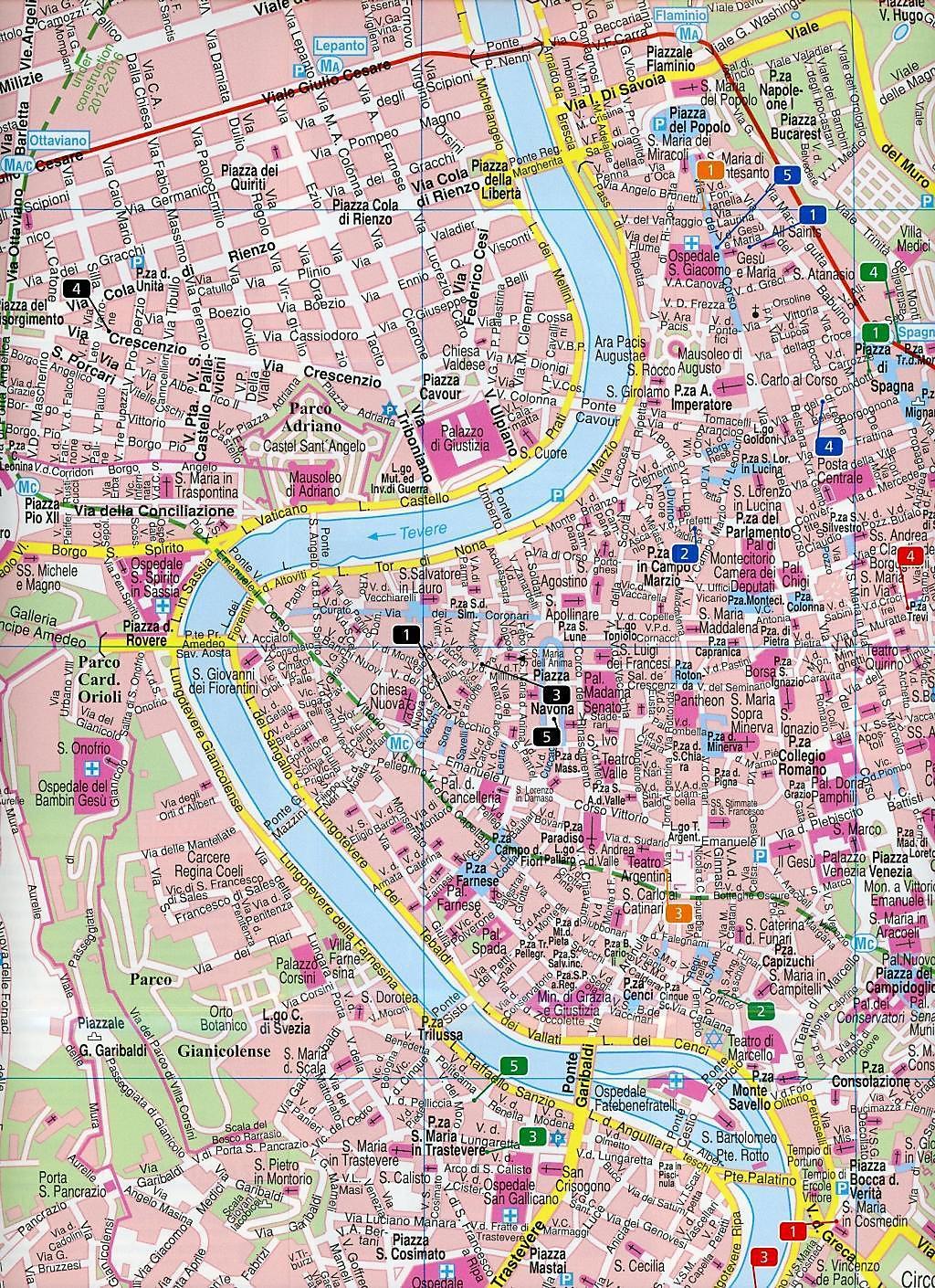 Rom Sehenswürdigkeiten Karte Deutsch.Freytag Berndt Stadtplan Rom Rome Roma Rim Rzym Buch Weltbild De