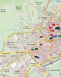 Freytag & Berndt Stadtplan Santiago de Compostela; Saint Jacques-de-Compostelle; Santiago di Compostela; Santiago de Com - Produktdetailbild 2