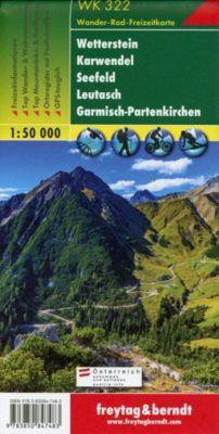 Freytag & Berndt Wander-, Rad- und Freizeitkarte Wetterstein, Karwendel, Seefeld, Leutasch, Garmisch-Partenkirchen