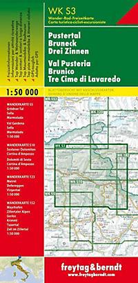 Freytag & Berndt Wander-, Rad- und Freizeitkarte Pustertal, Bruneck, Drei Zinnen; Val Pusteria, Brunico, Tre Cime di Lav - Produktdetailbild 1