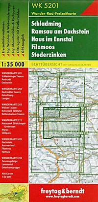 Freytag & Berndt Wander-, Rad- und Freizeitkarte Schladming, Ramsau am Dachstein, Haus im Ennstal, Filzmoos, Stoderzinke - Produktdetailbild 1