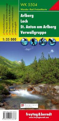 Freytag & Berndt Wander-, Rad- und Freizeitkarte Arlberg, Lech,St. Anton am Arlberg, Verwallgruppe